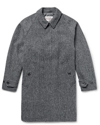Beams Plus Herringbone Harris Wool Tweed Overcoat