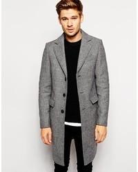 Selected Herringbone Overcoat