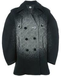 Grey Herringbone Pea Coat