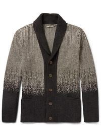 Shawl collar virgin wool and cashmere blend cardigan medium 375586