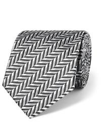Sulka 9cm Herringbone Silk Jacquard Tie