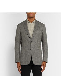 Dunhill Grey Fitzrovia Slim Fit Herringbone Tweed Blazer