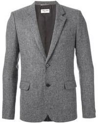 Saint Laurent Herringbone Tweed Blazer