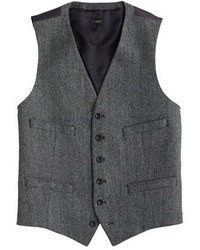 Vest in herringbone italian wool medium 23332