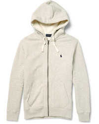 Polo Ralph Lauren Marl Cotton Blend Zip Up Hoodie