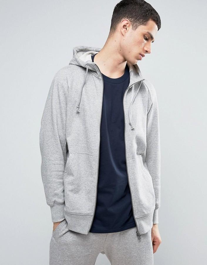 Originals X By O Zip Up Hoodie In Gray Bq3090
