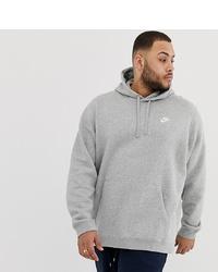 Nike Plus Pullover Hoodie With Swoosh Logo In Grey 804346 063