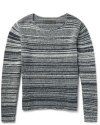 The Elder Statesman Striped Marled Cashmere Sweater