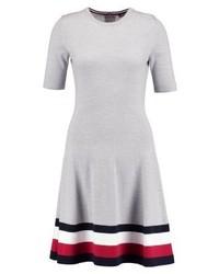Tommy Hilfiger Adana Tipping Jumper Dress Grey