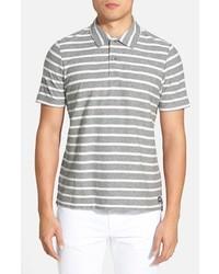 Grey Horizontal Striped Polo