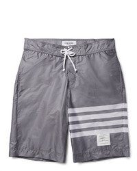 Grey Horizontal Striped Shorts