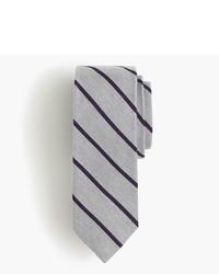 English wool silk tie in narrow stripe medium 735319