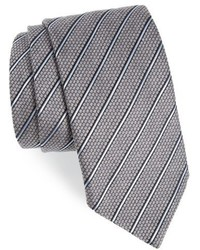 Stripe silk wool tie medium 915549
