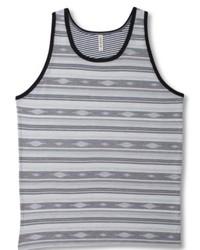 Grey Horizontal Striped Tank