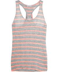 Huntington striped jersey tank gray medium 687836