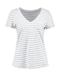 Gap Print T Shirt Grey Stripe