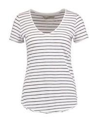 Slub voop print t shirt navywhite medium 4240025