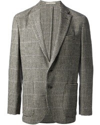 Grey Houndstooth Blazer