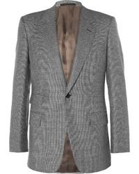 Kingsman grey slim fit houndstooth wool suit jacket medium 1343088