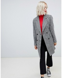New Look Tailored Coat In Hounds Tooth