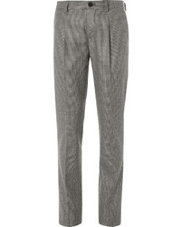 Brunello Cucinelli Slim Fit Houndstooth Wool Trousers