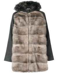 Fur panelled jacket medium 4990902