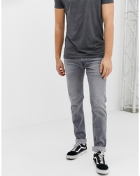 Replay Anbass Eco Laser Blast Super Stretch Slim Jeans In Grey