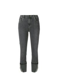 J Brand Side Slit Cropped Jeans