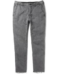 Sacai Slim Fit Cropped Washed Denim Jeans