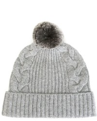 N.Peal Cable Knit Beanie Hat