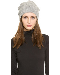 Cable knit fleece lined beanie medium 385644