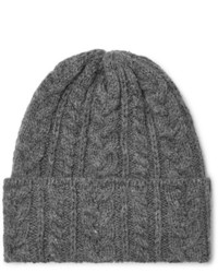 Drake's Cable Knit Wool Beanie