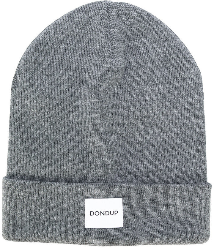f552c70ccbd ... Dondup Logo Patch Knitted Beanie