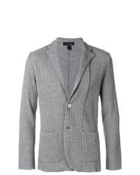 Lardini Patterned Knitted Blazer
