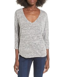 Leith Stretch Knit Highlow Top