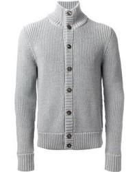 Grey Knit Cardigan