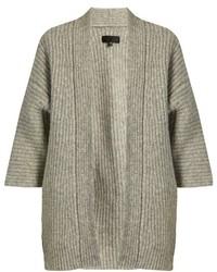 Naomi ribbed knit alpaca blend cardigan medium 824216