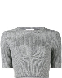 Valentino Ribbed Knitted Crop Top