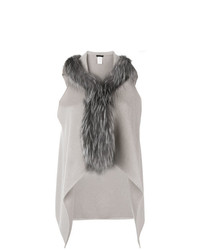 Fabiana Filippi Fur Trimmed Knitted Vest