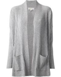 Grey Knit Open Cardigan