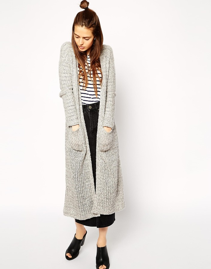 Asos Collection Knitted Look Maxi Cardigan | Where to buy & how to ...
