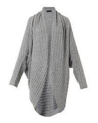 The Row Ilia Ribbed Knit Cocoon Cardigan