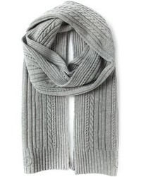 Salvatore Ferragamo Cable Knit And Ribbed Scarf