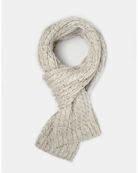 Asos Cable Scarf In Nep Yarn
