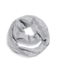 MICHAEL Michael Kors Michl Michl Kors Metallic Knit Infinity Scarf Grey One Size One Size