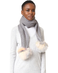 Scarf with fox pom poms medium 840752