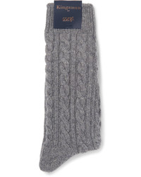 Grey Knit Socks