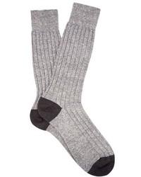 Pantherella Hamada Ribbed Knit Socks