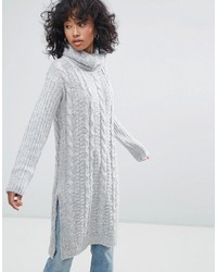 Oeuvre Cable Knit Roll Neck Sweater Dress