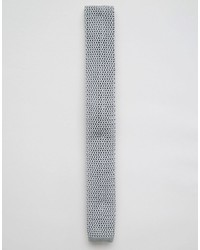 Brand wedding knitted tie in gray medium 599382